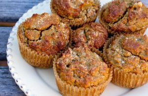 Anti-Inflammatory Coconut and Sweet Potato Muffins with Ginger, Turmeric, Cinnamon and Maple Syrup