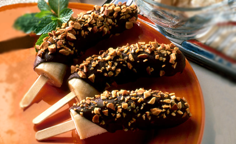 Chocolate-Dipped Frozen Bananas