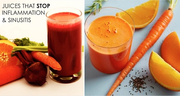 3 Best Juices That Bust Inflammation, Break Up Mucus And Cure Sinus